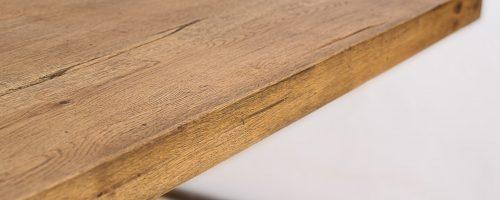 detalii masa atena lemn masiv picioare metalice
